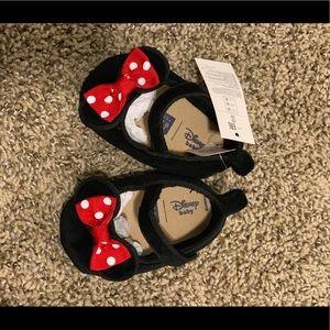 Minnie Mouse newborn shoes